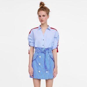 Women's Zara side striped shirt